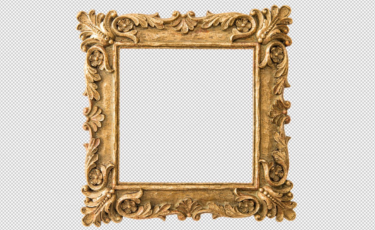 Antique golden frame png objects on creative market for How to make vintage frames