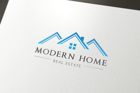 Modern home logo logo templates on creative market for Modern house logo