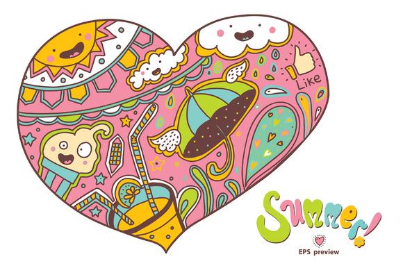 Summer heart. Summer mood. - Illustrations