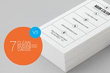7 Clean Minimal Business Cards - V3