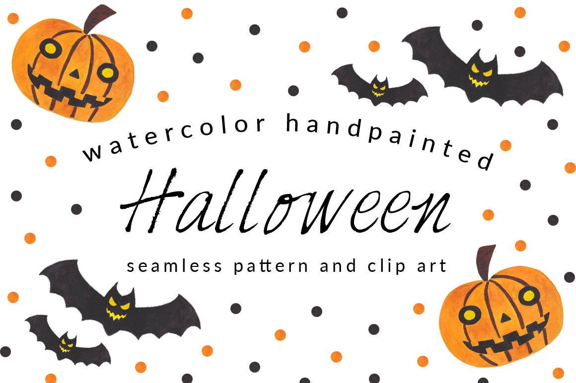 Halloween Pattern and Clip Art Pack ~ Patterns on Creative ...