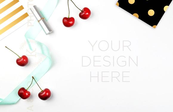 3 White mockup. Styled photo - Product Mockups
