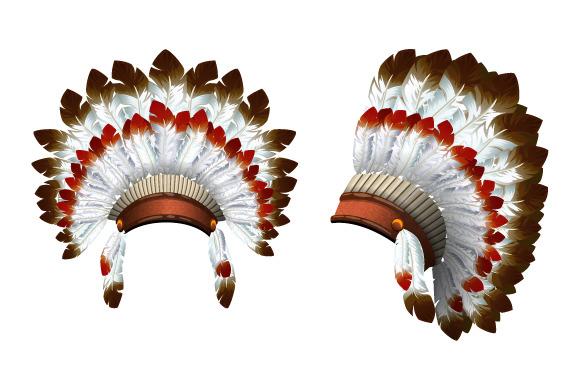 Indian. War bonnet. Vector - Objects