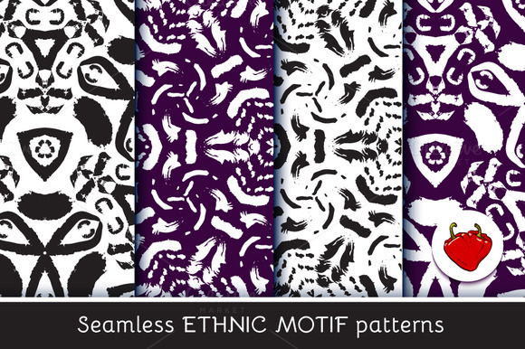 Ethnic Motif Seamless Pattern 3