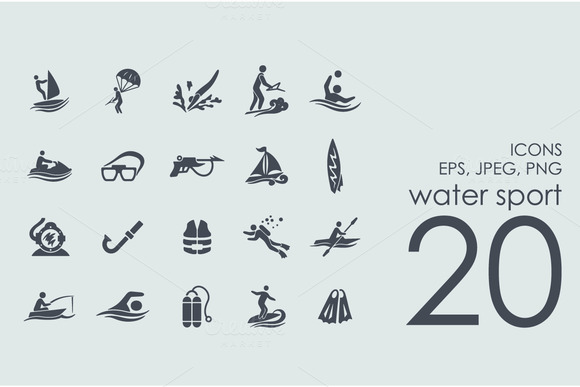 20 Water Sports Icons