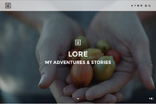 Lore - A Theme For Your Stories