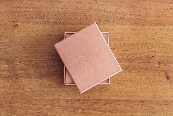 Mockup. Box on the table. - Product Mockups