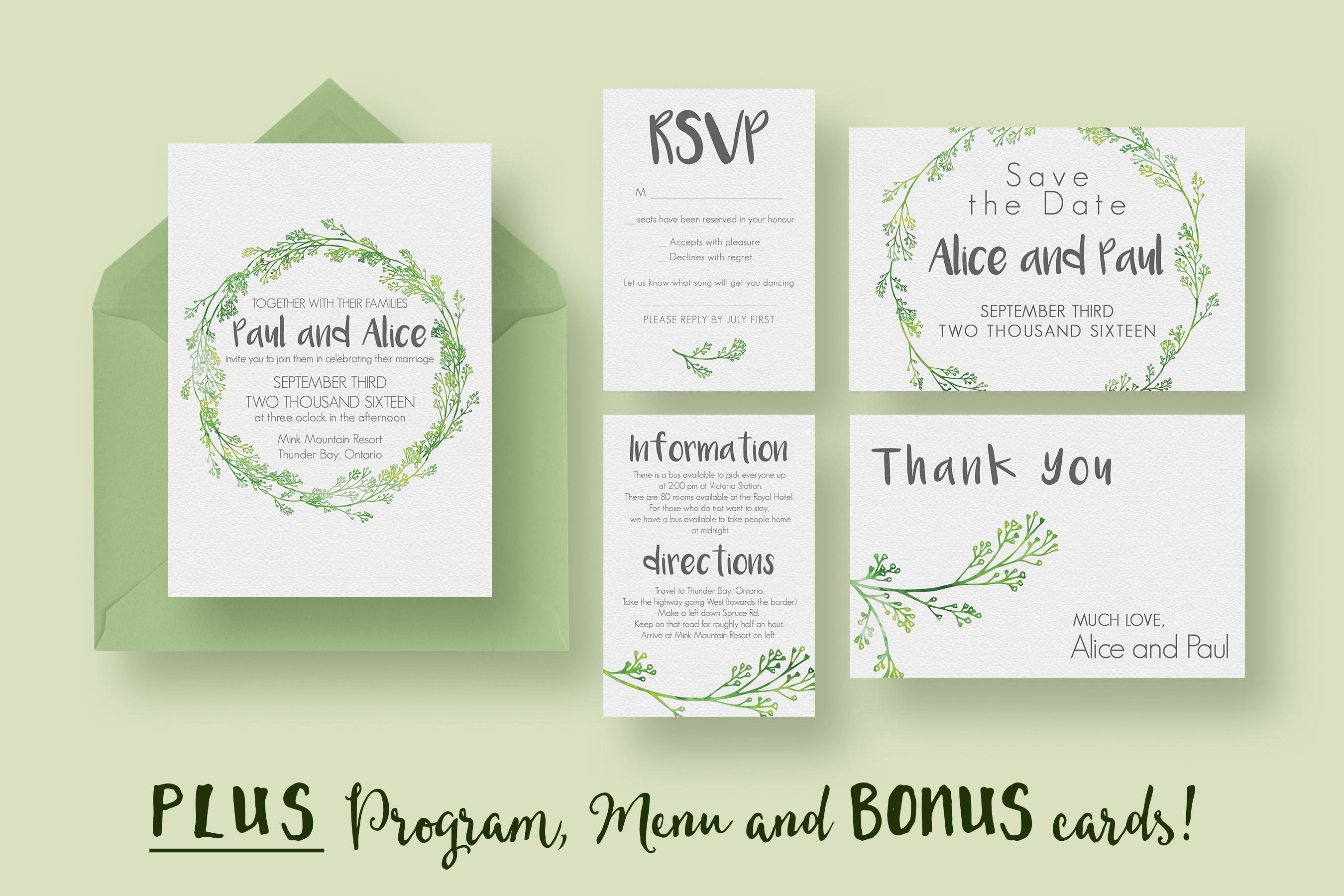 Hip wedding invitation suite invitation templates on for Wedding invitation suite what to include