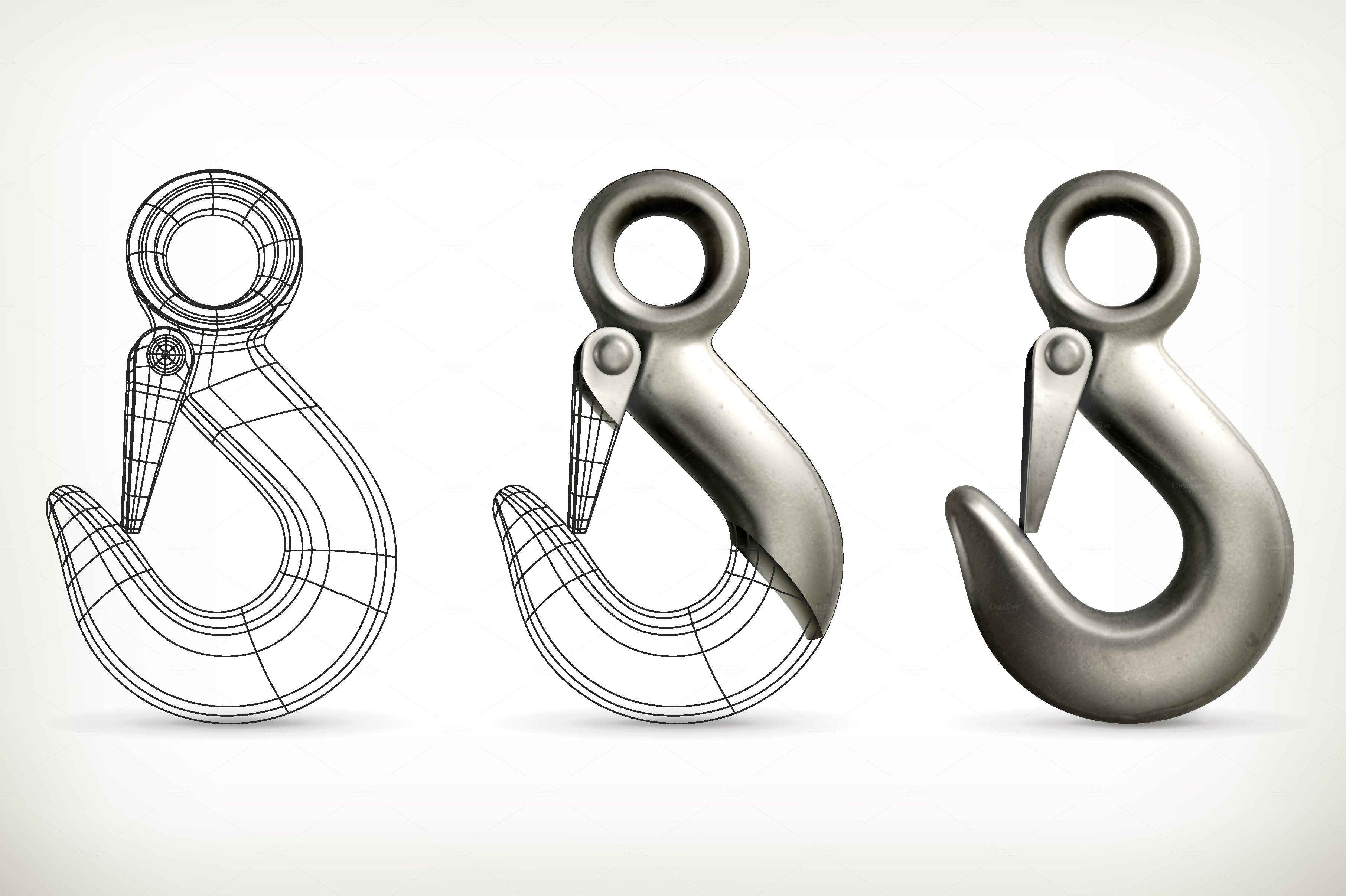 Hook Icon Vector Lifting Hooks Vector Icons