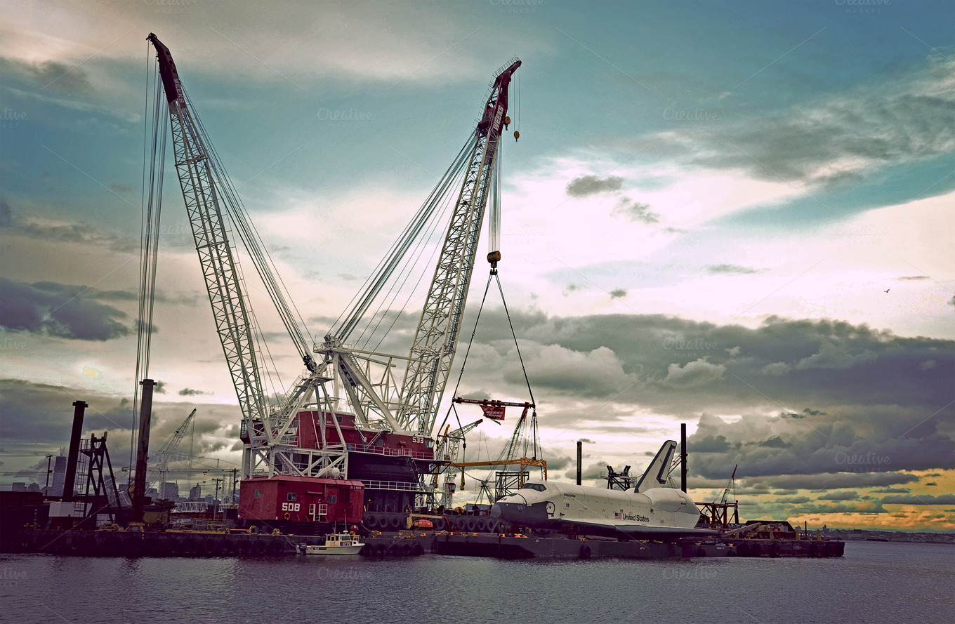 Towing a Space Shuttle ~ Industrial Photos on Creative Market
