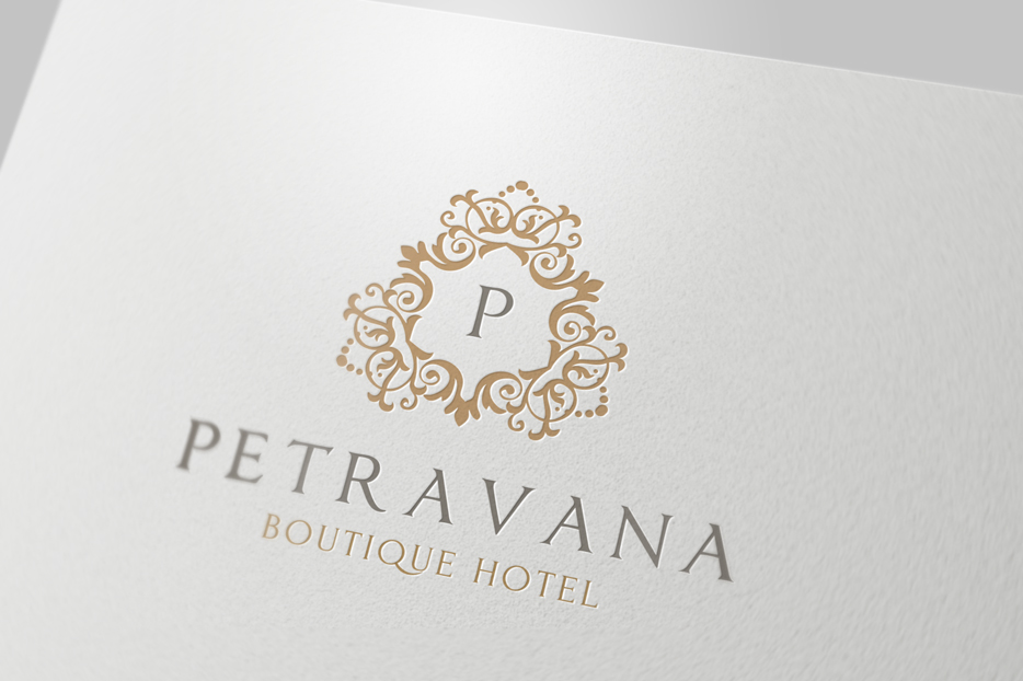Boutique hotel ii logo templates on creative market for Boutique hotel logo