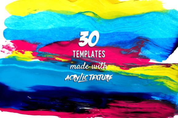 Acrylic Mood Vector Set