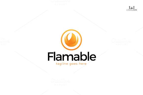 Flamable Logo