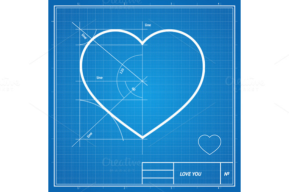 Vector Holiday Card.Blueprint Paper