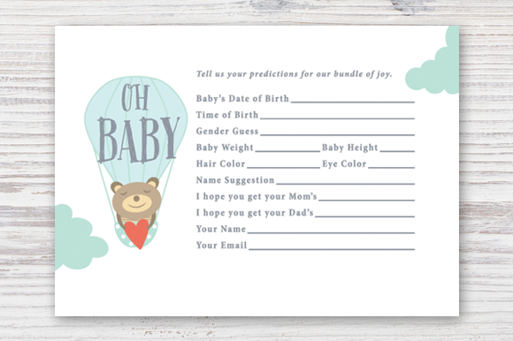 It is a picture of Tactueux Baby Prediction Cards Free Printable
