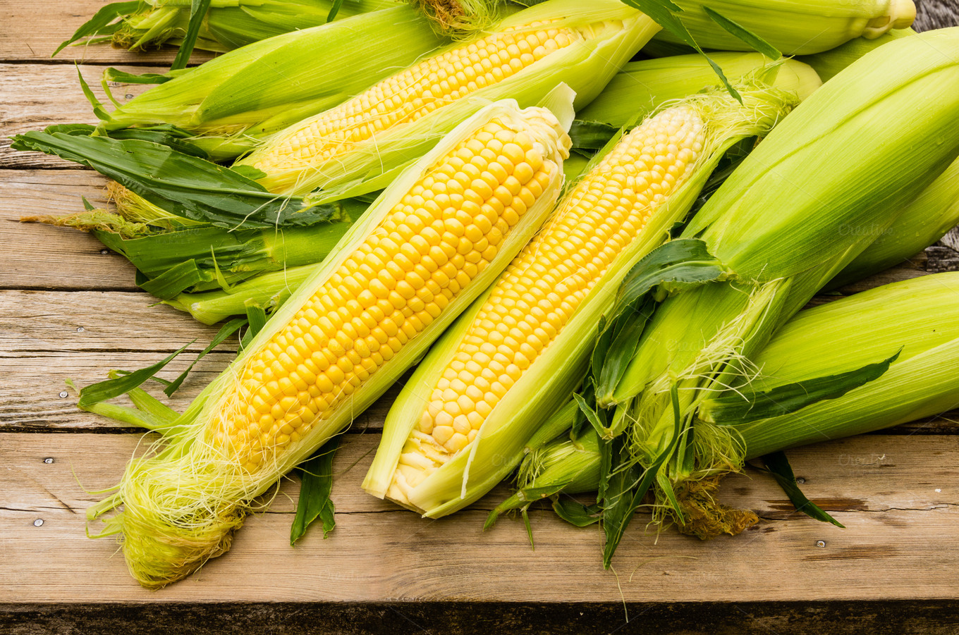 Fresh yellow sweet corn ~ Food & Drink Photos on Creative Market
