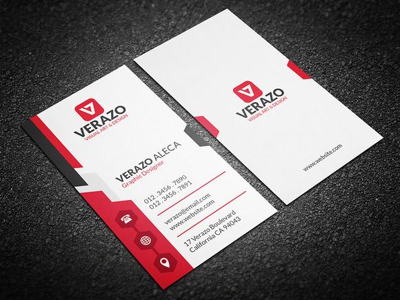 Modern Vertical Business Card Business Card Templates on