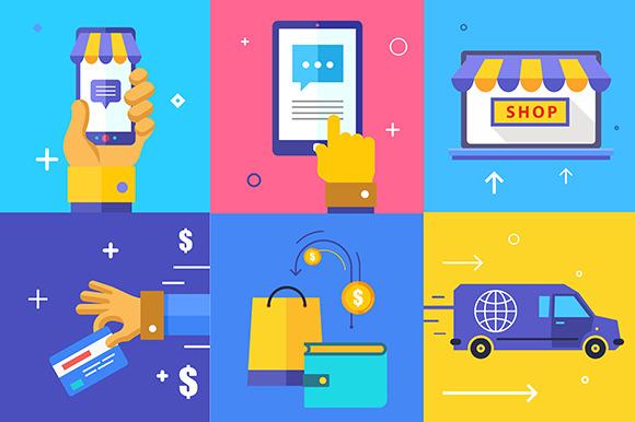 E-commerce. Business concept - Illustrations