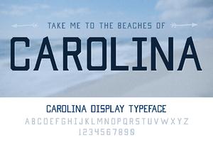 Carolina Display Typeface
