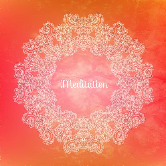 """Meditation"". Decorative card. - Illustrations"