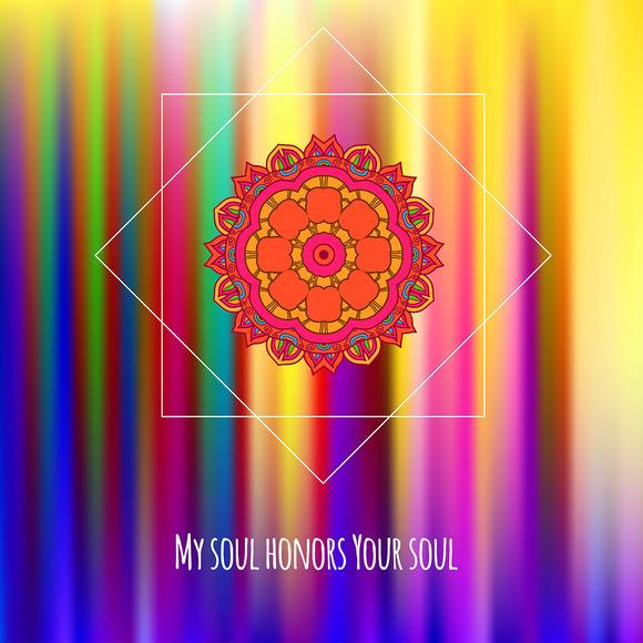 Mandala. Decorative card. - Illustrations