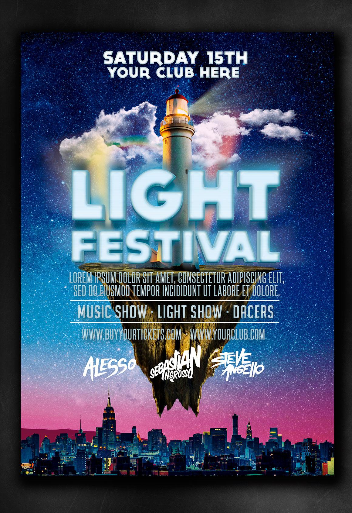 light flyer template