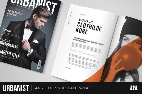 urbanist magazine indesign template magazine templates on creative market. Black Bedroom Furniture Sets. Home Design Ideas