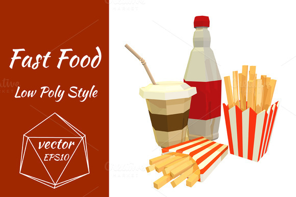 Fast food. Vector - Objects