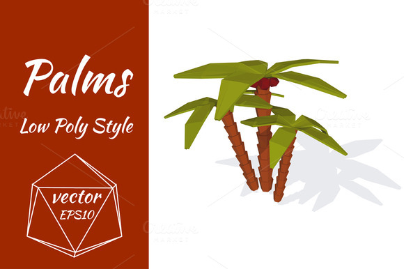 Palms On A White Background Vector