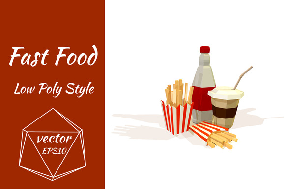 Objects of fast food. Vector - Objects