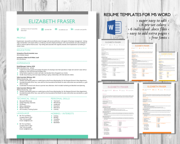 simple resume template word format resume templates on