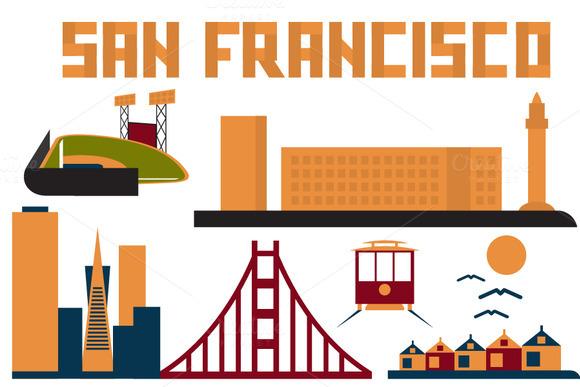Landmarks Of San Francisco Flat Desi