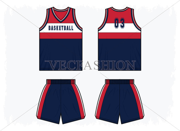Men Basketball Sport Kit Template