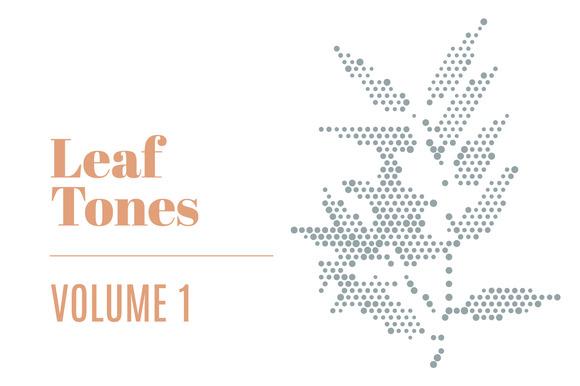 Leaf Tones Vol 1 Halftone Leaves