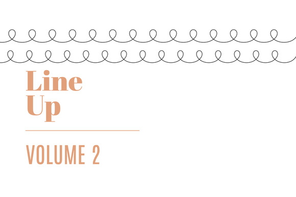Line Up Vol. 2 | 20 Decorative Lines - Patterns