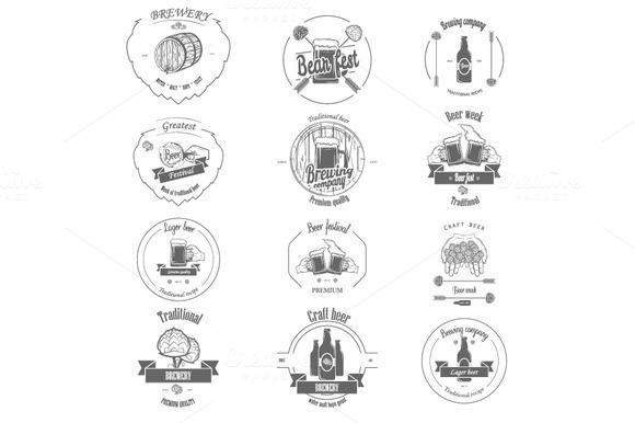 Set Of Beer Craft Badges