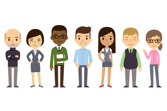 Diverse vector businesspeople ~ Illustrations on Creative ...