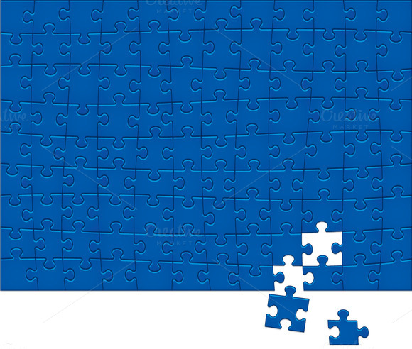 Jigsaw Puzzle Pattern. 108 pieces. - Illustrations
