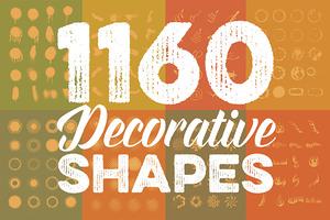 Megabundle: 1160 Decorative Shapes