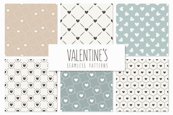 Valentine's Seamless Patterns Set