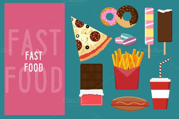 Fastfood flat style bundle