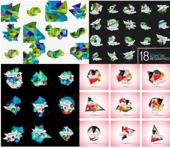 48 Geometric Infographic Designs