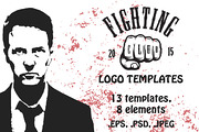 Set of cool fighting club e-Graphicriver中文最全的素材分享平台