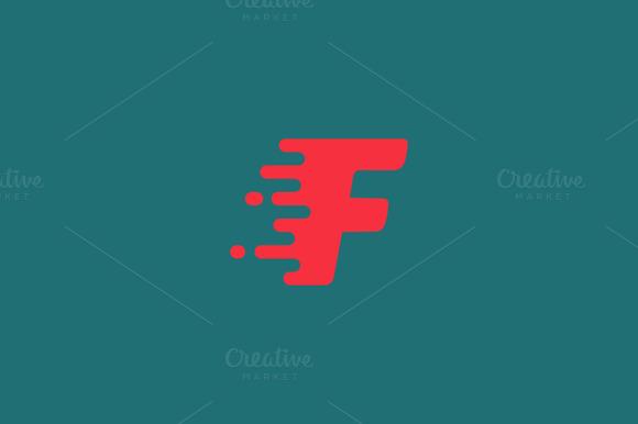 Dynamic letter F logo