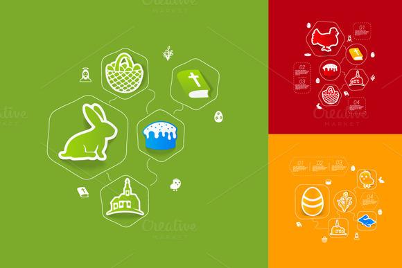 9 Easter Sticker Infographics
