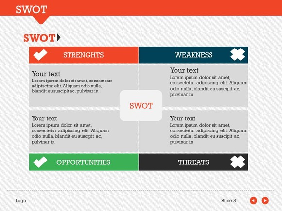 swot pack 1 powerpoint template presentation templates