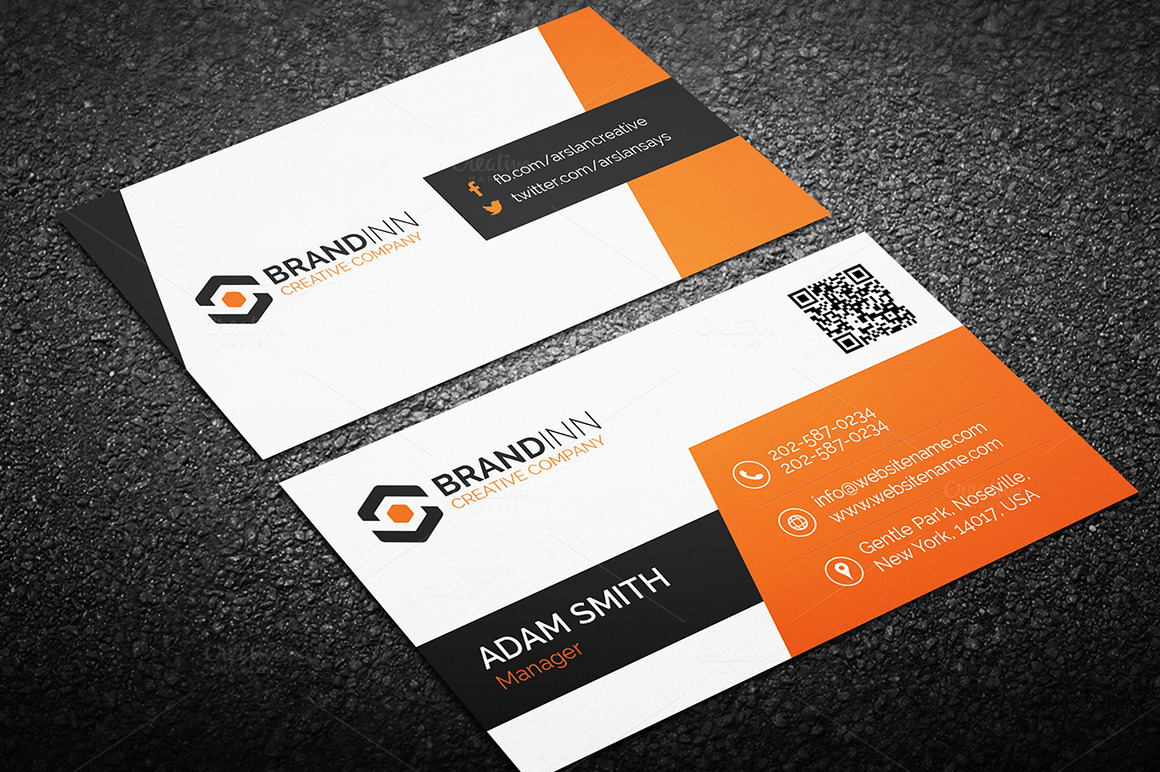 4 Business Cards Bundle 4 Business Card Templates On