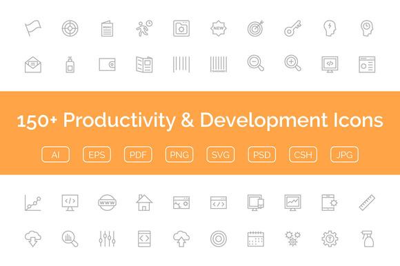150 Productivity Development Icon