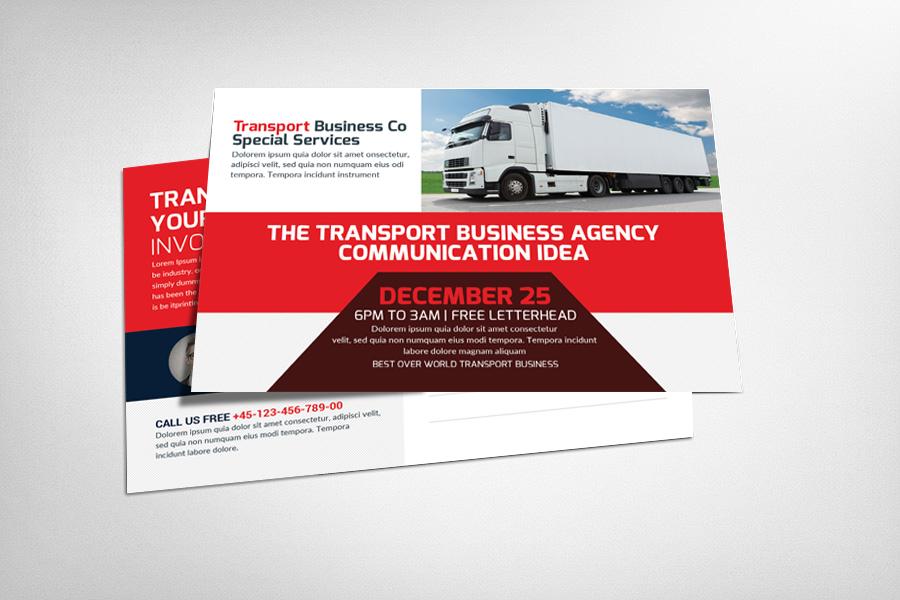 Transport Business Postcard Template Card Templates on