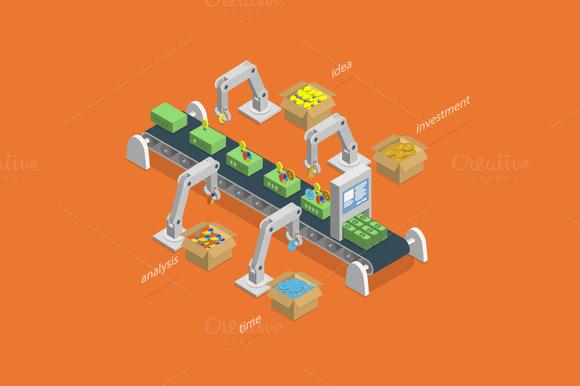 Money Making Process Concept